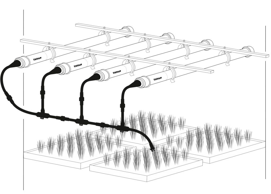 Valoya Chainable End-Caps for LED Tubes